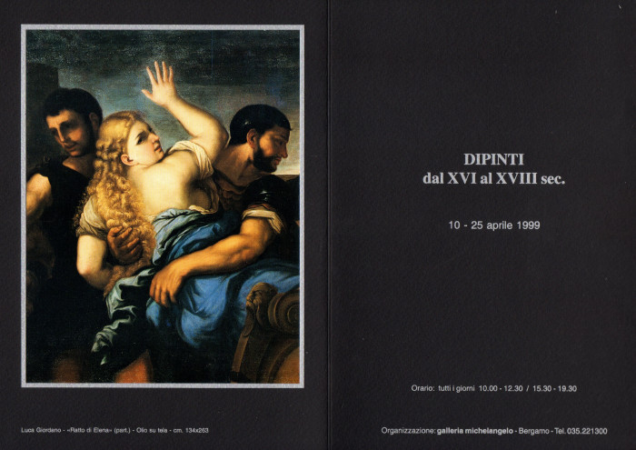 Dipinti dal XVI al XVIII secolo
