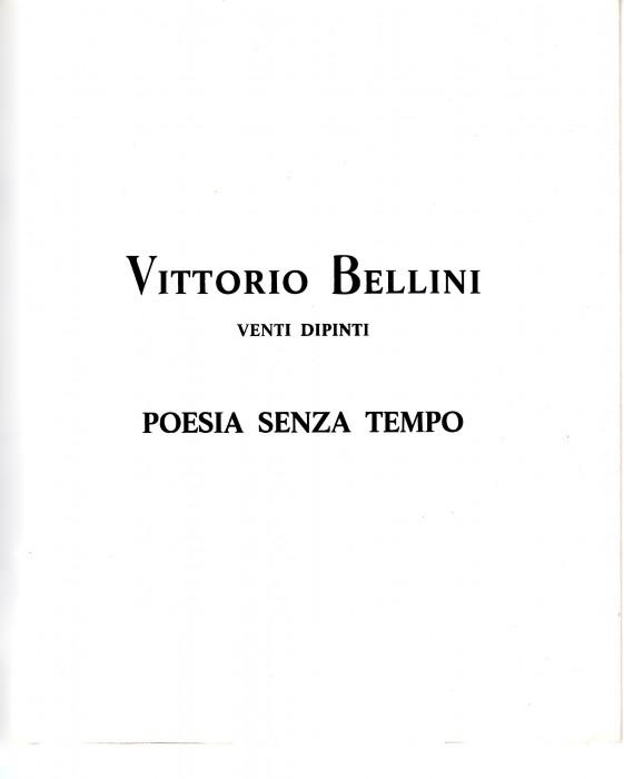 Vittorio Bellini - Poesia senza tempo
