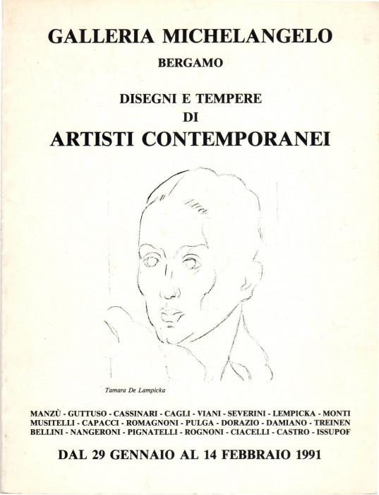 Disegni e tempere di artisti contemporanei