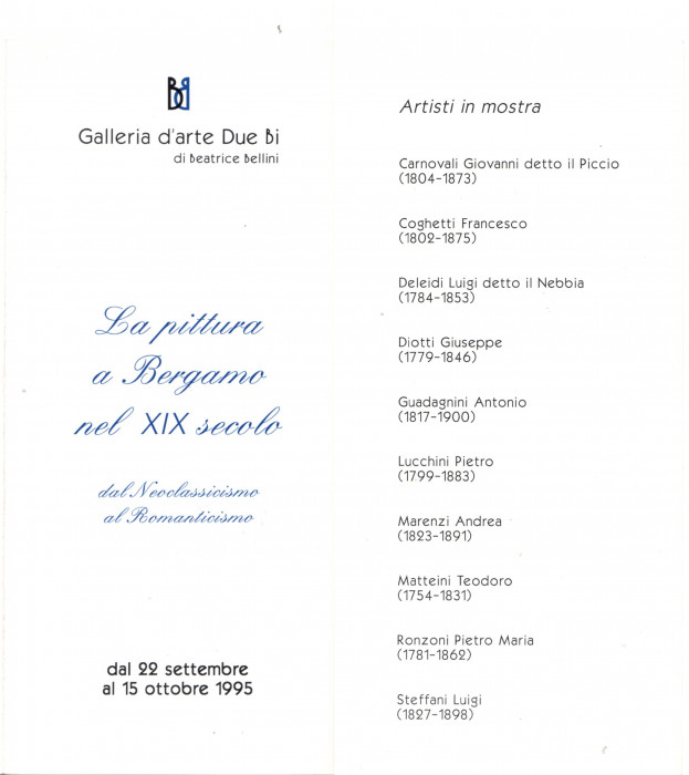 La pittura a Bergamo nel XIX secolo - Dal Neoclassicismo al Romanticismo
