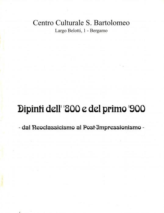 Dipinti dell'800 e del primo '900 - dal Neoclassicismo al Post-Impressionismo