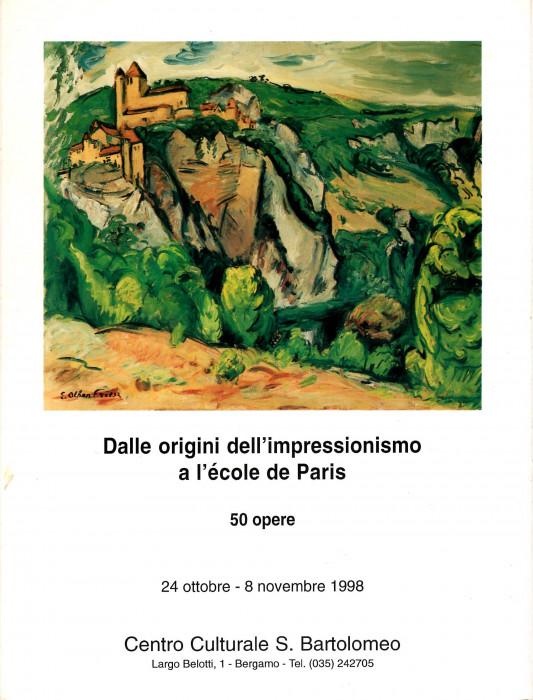 Dalle origini dell'Impressionismo all'Ecole de Paris