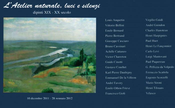 L'atelier naturale, luci e silenzi - Dipinti XIX - XX secolo