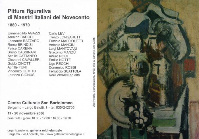 Pittura figurativa di maestri italiani del Novecento