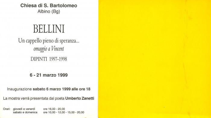 Bellini - Un cappello pieno di speranza... omaggio a Vincent