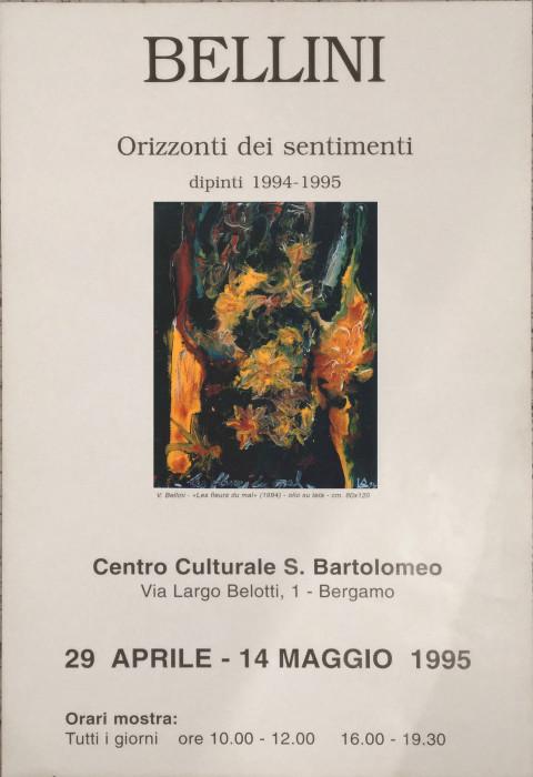"""Vittorio Bellini, """"Orizzonti dei sentimenti"""" dipinti 1994-1995"""