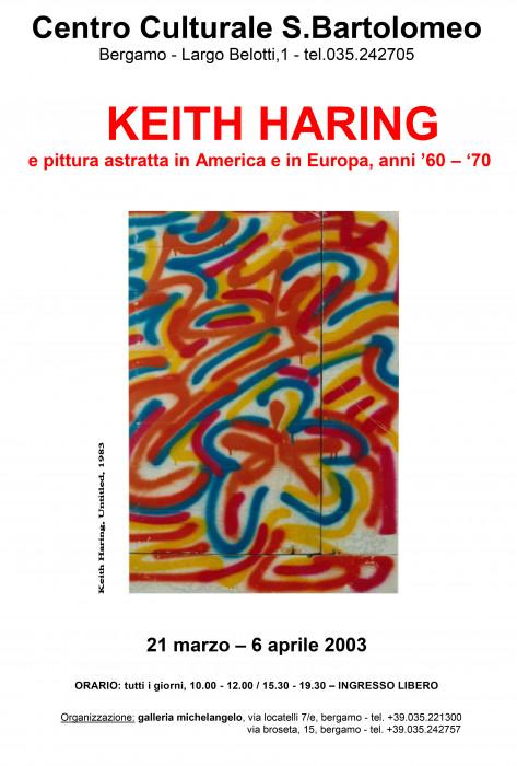 Keith Haring e la pittura astratta in America e in Europa - Anni '60-'70