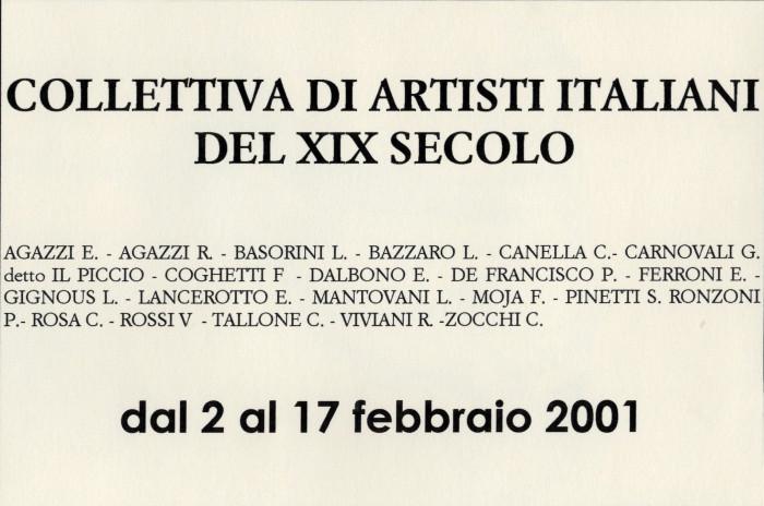 Collettiva di artisti italiani del XIX secolo