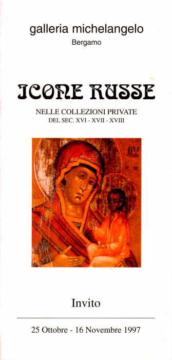 Icone russe nelle collezioni private del secolo XVI- XVII-XVIII